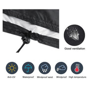 New Solid Parasol Cover Extra Large Parasol Umbrella Cover Waterproof Outdoor Convenient Patio Zipper