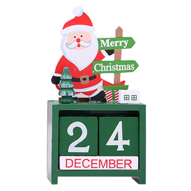 New Wood Christmas Advent Calendars Christmas Decorations For Home Xmas Ornament Creative Children's Christmas Gifts