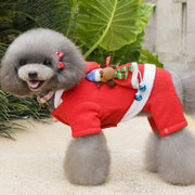 New Year's Pet Warm Dog Cat Jacket Coat Puppy Red Clothes Christmas Winter Dog Cat Jacket Christmas Apparel Xmas Costume