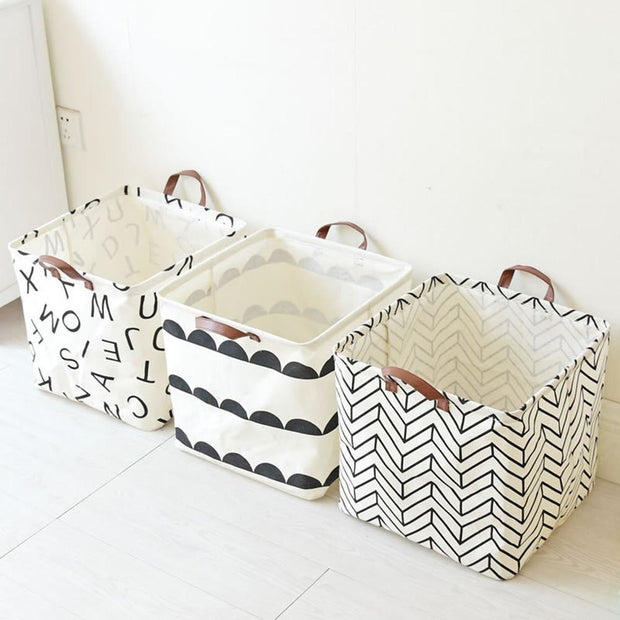 New Arrival Foldable Storage Basket Cotton And Linen Dirty Clothes Basket Toys Debris Storage Bucket Hot Selling