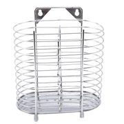 Newest Stainless Steel Hanging Chopstick Cage Reinforced Kitchen Supplies Cutlery Storage Tool Square Can Be Drain Racks