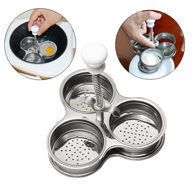 Newly Multifunction Stainless Steel Microwave Egg Poachers Cooker Boiler Steamer Tool 2017ing