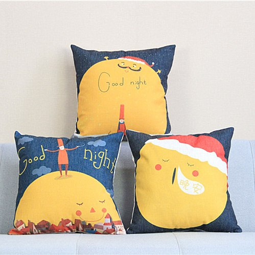 Nordic Cartoon Illustration Printed Pillowcase Cute Moon Square Cushion Decorative Pillow Home Decor Throw Pillow Almofadas