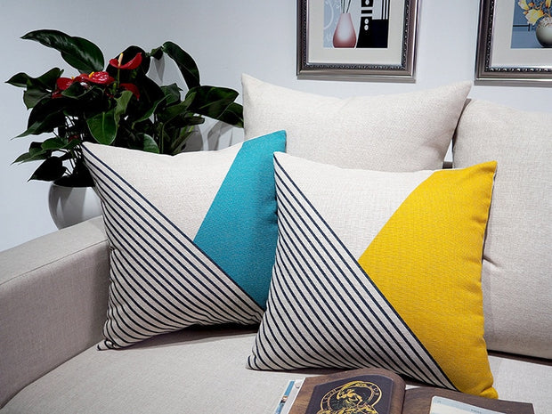 Nordic Design Classic Stripe Pillowcase Creative Linen Luxury Sofa Cusions Decorative Pillow Home Decor Throw Pillow 45*45