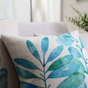Nordic Design Ink Leaves Printed Pillowcase Little Fresh Art Cushion Decorative Pillow Home Decor Throw Pillow Almofadas 45*45