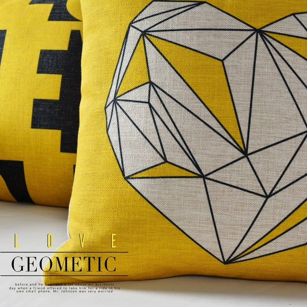 Nordic Design Simple Geometric Printed Pillowcase Luxury Sofa Cusions Decorative Pillow Home Decor Throw Pillow 45*45