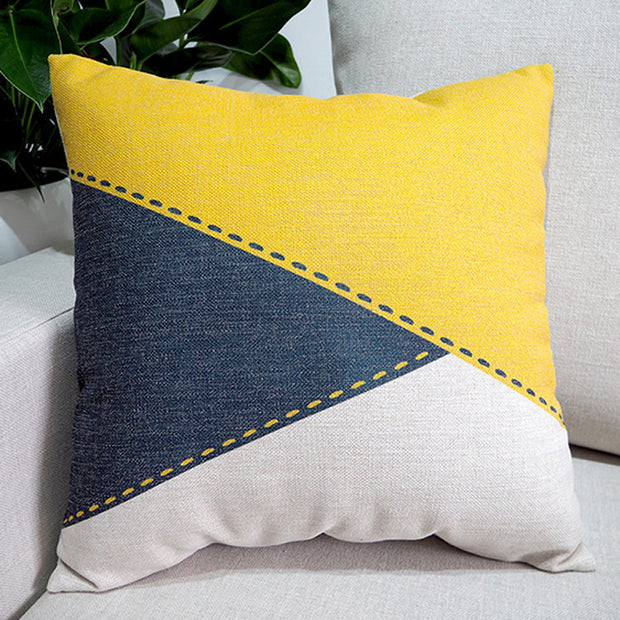 Nordic Design Simple Printed Pillowcase Geometric Character Cushion Decorative Pillow Home Decor Throw Pillow 45*45
