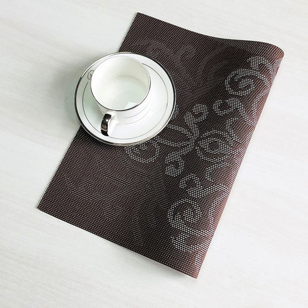 ONEUP 4 Pcs/lot PVC Placemats Waterproof And Anti-slip To Prevent High Temperature Burns Coasters Eco-friendly Table Mat