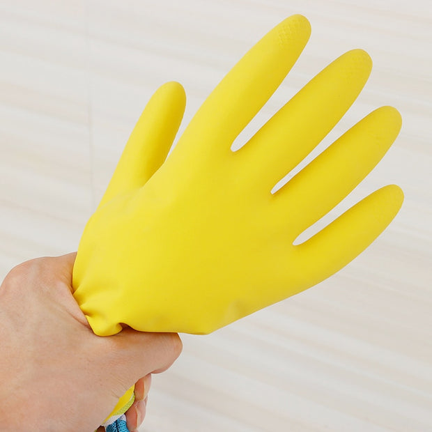 ORZ 1 Pair Leather Cleaning Gloves Long Sleeves Waterproof Dishwashing Gloves Household Kitchen Car PVC Clean Cleaning Tools