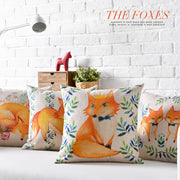 Original Cartoon Cotton Linen Pillowcase Cute Fox Cushion Decorative Pillow Home Decor Sofa Throw Pillows 45*45
