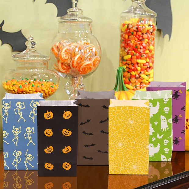 OurWarm 12pcs Wedding Party Bags Baby Shower Boy Girl Candy Bar Packaging Paper Bag Halloween Gift Bags Birthday Party Decor Kid