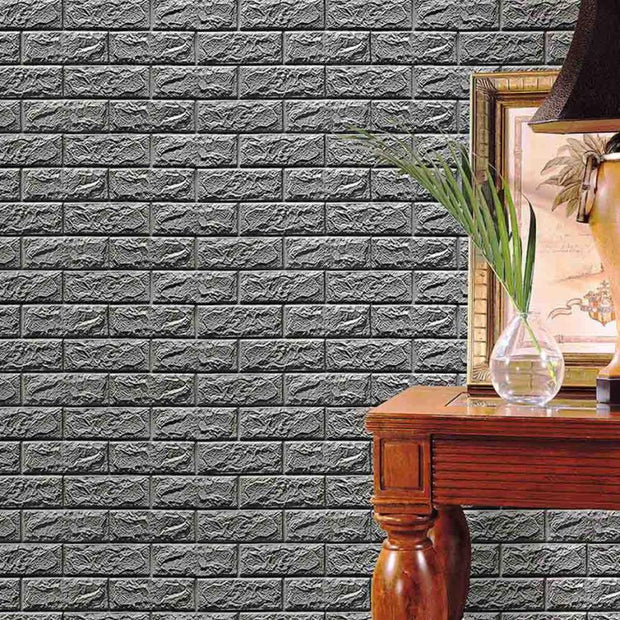PE Foam 3D Wallpaper DIY Wall Stickers Wall Decor Embossed Brick Stone Wall Decor Wall Stickers Home Decor Living Room Nt0