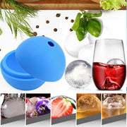 PREUP 1 Pcs Dia 6cm Silicone Round Ball Ice Cube Mold Tray Desert Sphere Mould DIY Cocktail Forma De Gelo