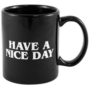 PREUP Creative Have A Nice Day Coffee Mug 350ml Funny Middle Finger Cups And Mugs For Coffee Tea Milk Novelty Birthday Gifts