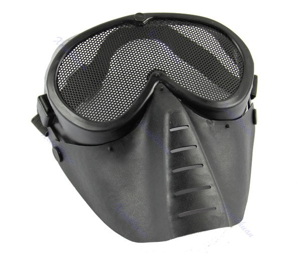 Paintball Airsoft Gear Full Face Eyes Nose Wear Protector Safety Guard Mesh Mask