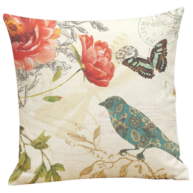 Painting Birds Printing Dyeing Bed Home Pillowcase Pillow Cover Brand New Comfortable High Quality Droship 45cm*45cm 10JUL 31
