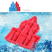 Palace Castle Mold Cookie Pudding Jelly Chocolate Cutter Silicone Ice Trays Frozen Cube Tray Bakeware C