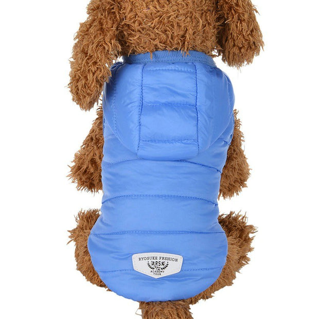 PanDaDa Winter Dog Clothes For Small Dogs Pet Puppy Chihuahua Pet With A Hat Quilted Dog Clothing Windproof Dog Coat Jacket