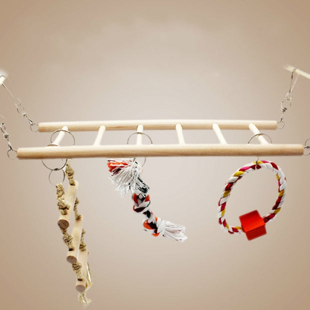 Parrot Climbing Net Hanging Ladder Bridge Macaw Cage Chew Decoration Bird Toys Pet Supplies Parrot Toys New