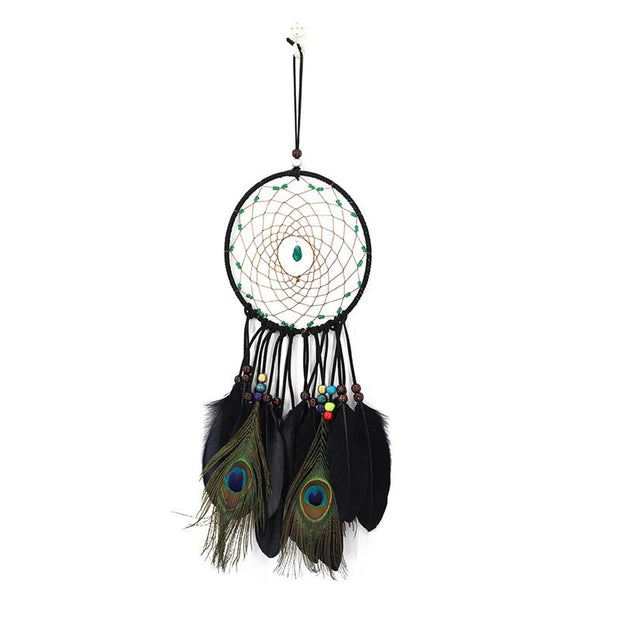 Peacock Style Wind Chimes Handmade Dream Catcher Net Wall Decoration Dreamcatcher Craft Gift Home Hanging Ornaments