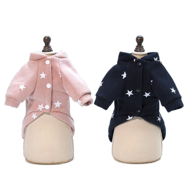 Pet Clothes 2018 Autumn And Winter New Warm Five-pointed Star Sweater Pet Clothes Dog Clothes
