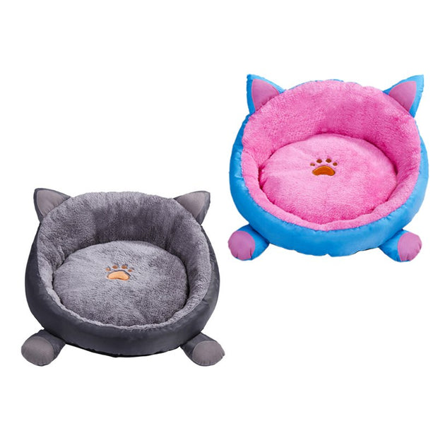 Pet Dog Bed Warming Dog House Soft Material Nest Dog Baskets Fall And Winter Warm Soft Fleece Mat Kennel For Cat Puppy