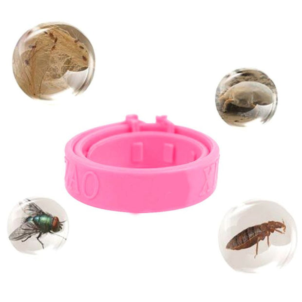 Pets Dog Cat Fleas Control Reject Anti-Flea Collars Neck Solid Ring For Small Dogs Puppy Summer Outdoor Pest Control Supplies