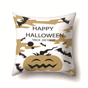 Pillowcases 45*45 CM Halloween Cartoon Skull Black Gold Nightmare Bat Printed Throw Pillows Cover Pillowcase New