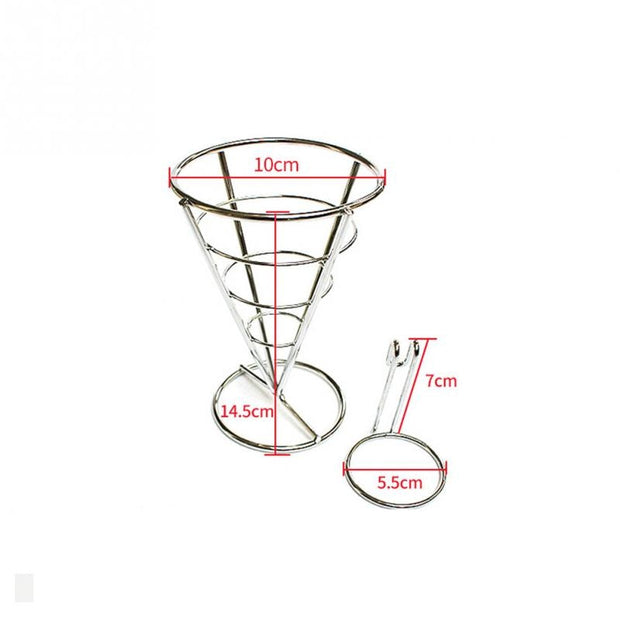 Plating Single Head French Fries Stand Buffet Cone Snacks Display Stand Fries Baskets