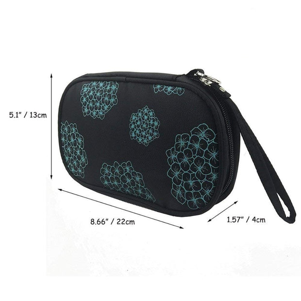 Portable Multi Layer Flower Jewelry Holder Accessory Bag Necklace Bracelet Earring Ring Organizer Pouch Carry Tote Handbag
