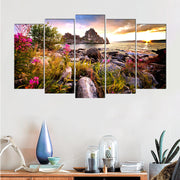 Pretty Natural View Pastrol Canvas Painting Modern Art Prints 5 Psc Realist Wall Pictures For Living Room Bedroom Kitchen Office