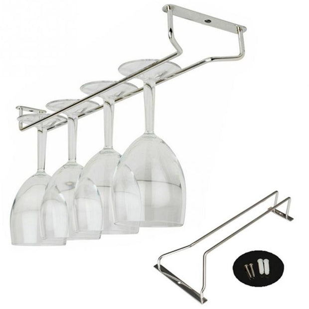 Professional Wine Cup Holder Chrome Plated Wine Champagne Glass Cup Hangers House Screws Set