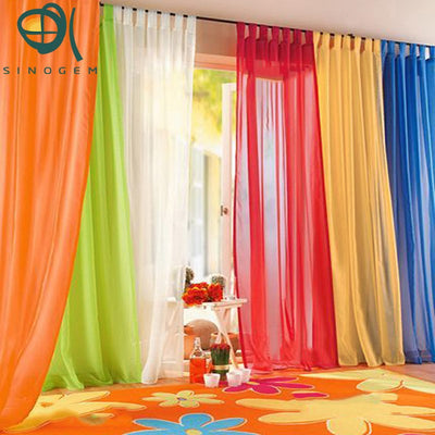 Promotion!Fashion Europe Gauze Curtain 23 Colors Size 140*245cm Wholesale 2pcs/lot Sheer Tulle Curtain For Living Room Cortinas