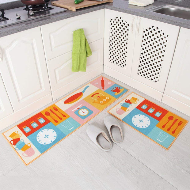 RULDGEE Absorbent Slip-resistant Kitchen Mats Door Bathroom Carpet Floor Mat Rug Home Decor Front Door