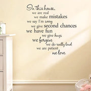 Removable English Quotes Wall Stickers For Staircase Wall Door Decoration, DIY Decals For Living Room Bedroom Office Study