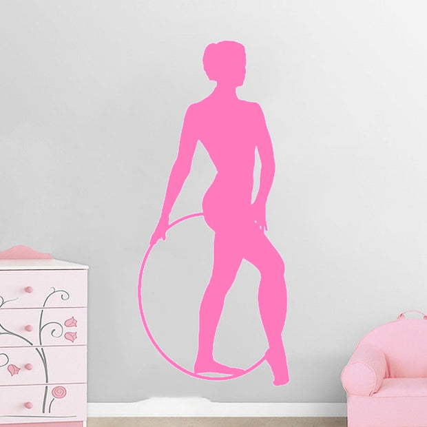 Rhythmic Gymnastics Hoop Vinyl Wall Stickers Home Decor Living Room Art Wall Decals Bedroom Elegant For Girls
