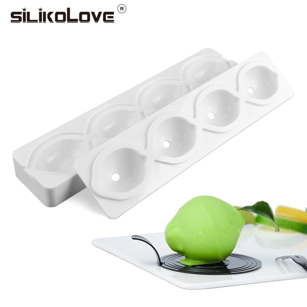 SILIKOLOVE 4 Cavities Lemon Shaped Silicone Mold Brownies Ice Cream Cake Molds Baking Dessert Pudding Cake Decorating Tools New
