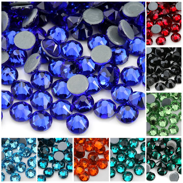 SS16 New Faceted Cut Facets 8 Big 8 Small Hot Fix Back Top Quality Iron On Stone Hotfix Garment Style Rhinestone,1440pcs/lot