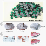 SS16 SS20 SS30 Hot-fix Crystal Montana Color Iron On Flat Back Crystals Stone Hotfix Rhinestones Applique For Garments