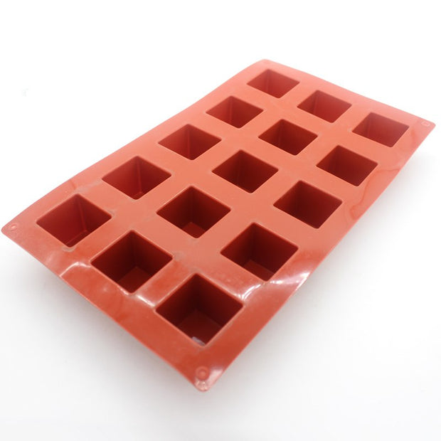 Silicone 3D Cube Mold Ice Cube Tray 15 Cups 3.5*3.5*3.5cm Cube Chocolate Mould