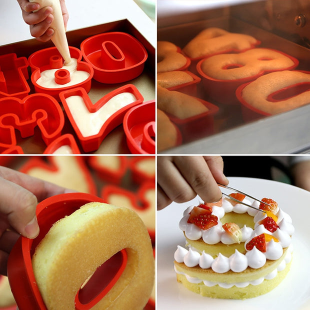 Silicone Digital 0-9 Number Cake Mold Decorating Tool Birthday Anniversary Cake Alphabet Muffin Cake Mould Accessories CT1130