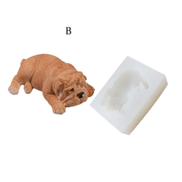 Silicone Molds Cake Decoratin Cute Puppy Mold For Diy Candy Soap Chocolate Fondant Non-stick Easy Release Kitchen Cake Tools