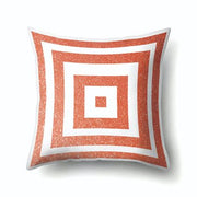 Simple Coral Stripe Arrow Square Throw Pillow Case Polyester Pillowcase For Living Room Bedroom 45*45cm
