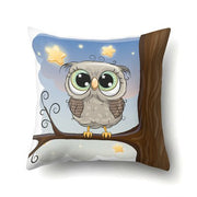 Simple High Quality Cute Owl Pillow Case Pink Printing For Dyeing Bed Home And Christmas Gift 45*45cm Christmas Gifts