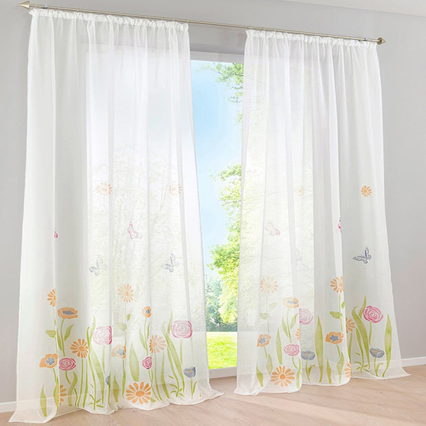 Sinogem European Pastoral High Density Transfer Printing Curtain For Living Room/sitting Room/bedroom (ONLY ONE PIECE)