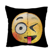 Soft Emoji Round Cushion Home Textile Pillow Case Emotions Smiley Home Pillow Cushion Cover Sofa Plush For Adults Childs NEW 19