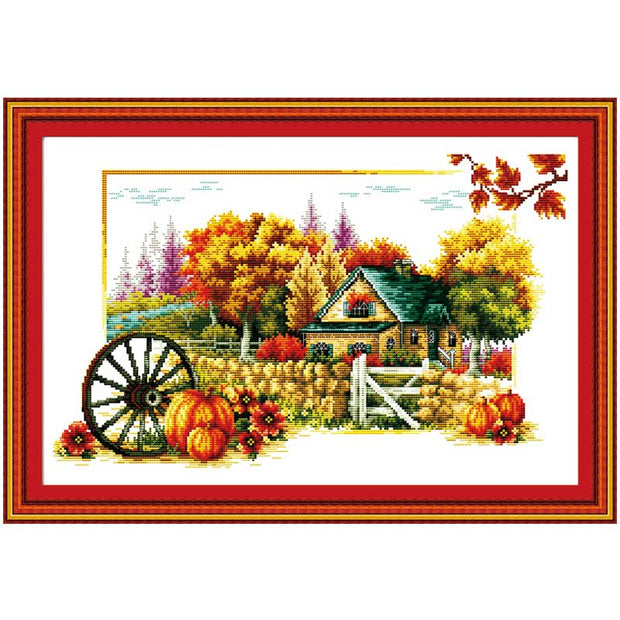 Soul Of Autumn Patterns Counted Cross Stitch Handmade Cotton Cross Stitch Set 11CT 14CT Cross-stitch Kits Embroidery Needlework