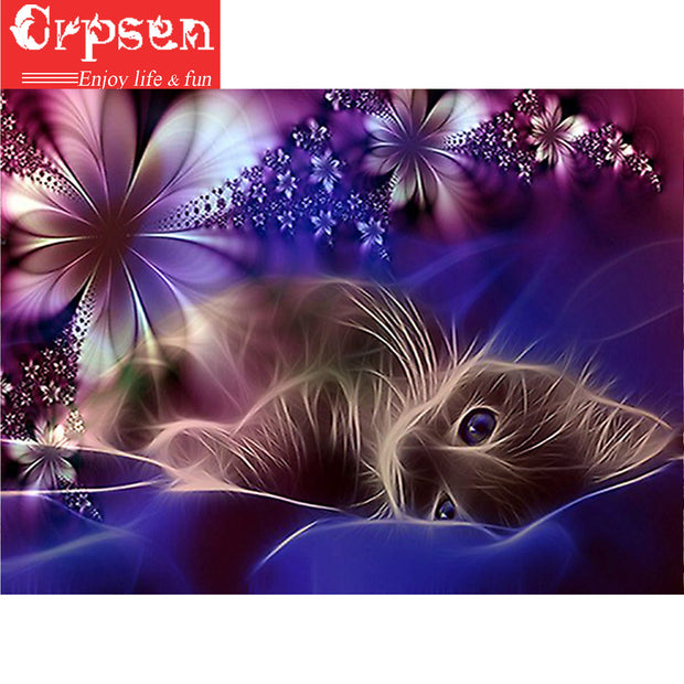 Square 5D DIY Embroidery Diamond Painting Full The Cat Gift Arts Crafts&Sewing Needlework Cross Stitch Home Decoration Crpsen