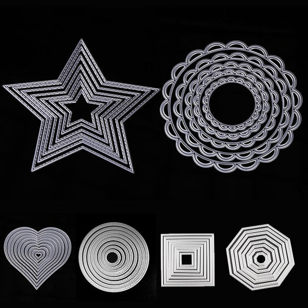 Square Round Star Frame Metal Cutting Dies Stencils For Scrapbooking Photo Album Decorative DIY Paper Card Embossing Mold