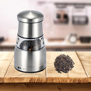 Stainless Steel Pepper Mill Portable Manual Pepper Grinder Kitchen Condiment Grinding Cooking Tool